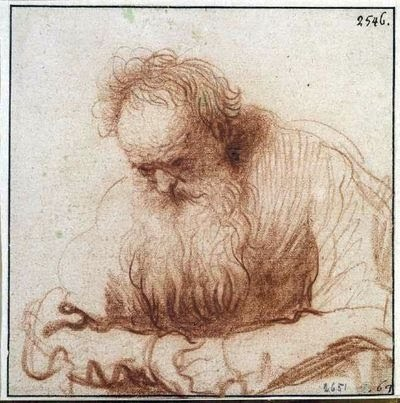 Rembrandt, red chalk