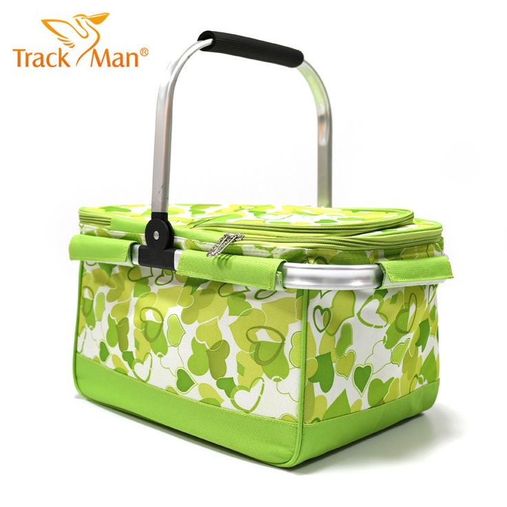 Waterproof Oxford Cloth Floral Print Insulated Cooler Outdoor Picnic Basket