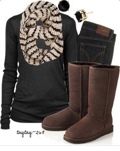 chocolate uggs classic tall boots for amazing warm Fall/Winter fashion outfit