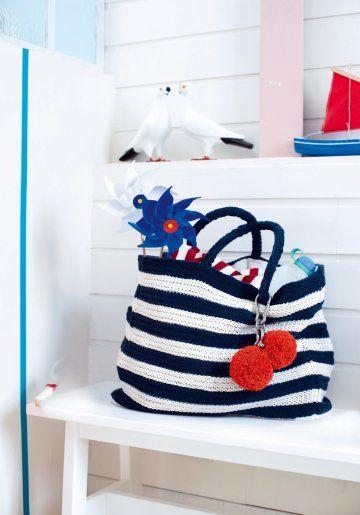 grand sac de plage crochet