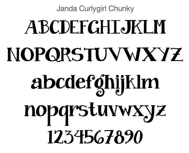 janda curlygirl chunky font