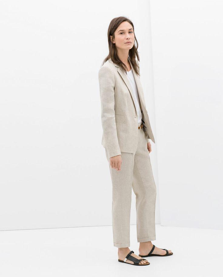 Linen suit from Zara