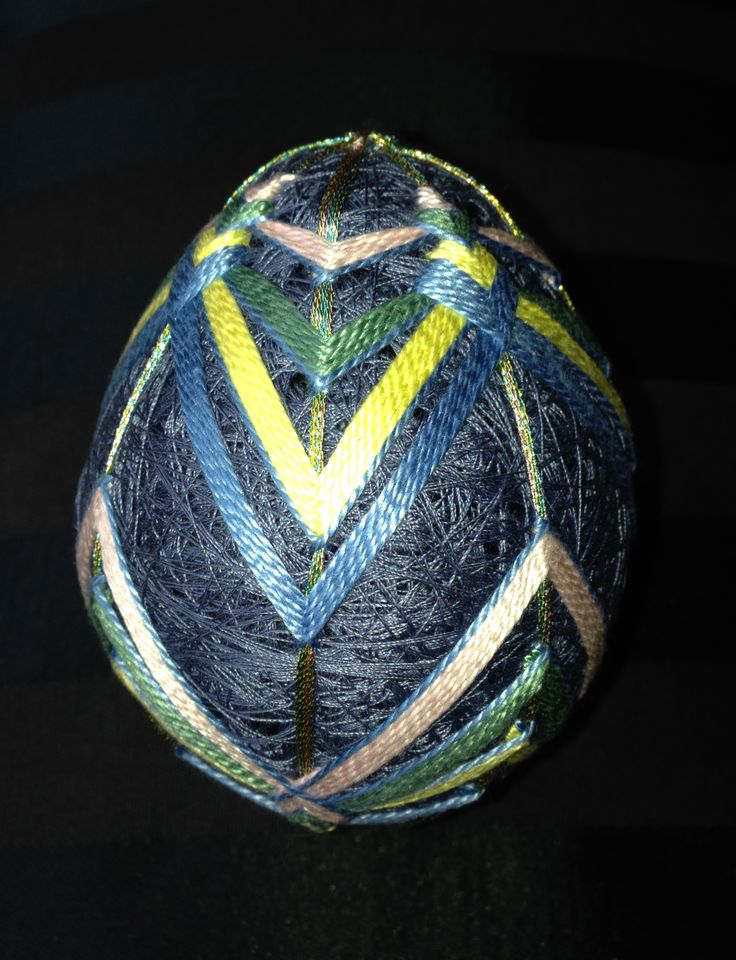 Temari egg by Carolyn Michelsen