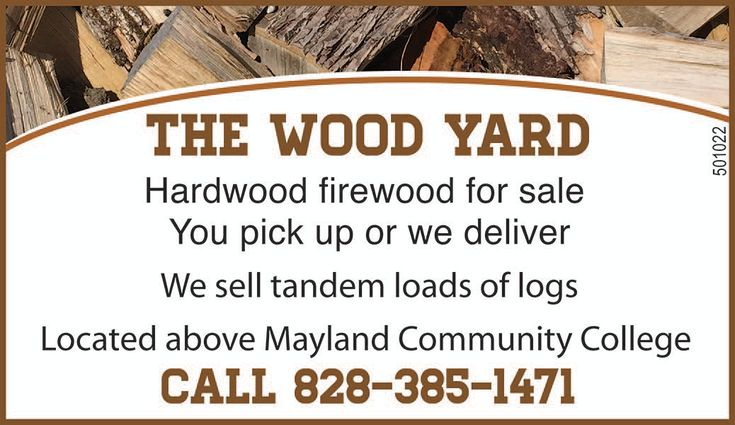Hardwood firewood for sale  by The Wood Yard in Spruce Pine, NC