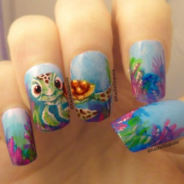 i love the little squirt nail - 25+ Trending Turtle Nails Ideas On Pinterest Turtle Nail Art