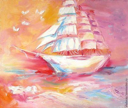 "картина ""Корабль сновидений"" - летучий голландец картина,корабль картина маслом"