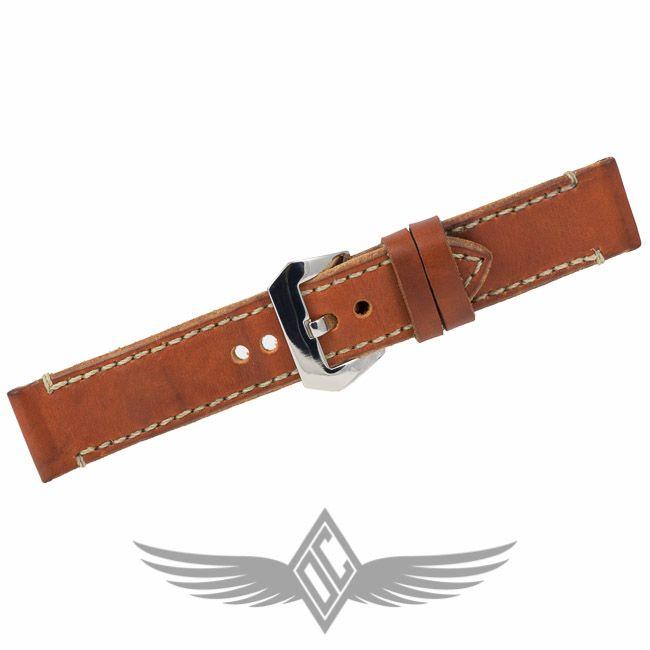 Custom Brown Leather Watch Strap 24mm for #Panerai Watches - #OCWatchCompany #WatchStore #WalnutCreek