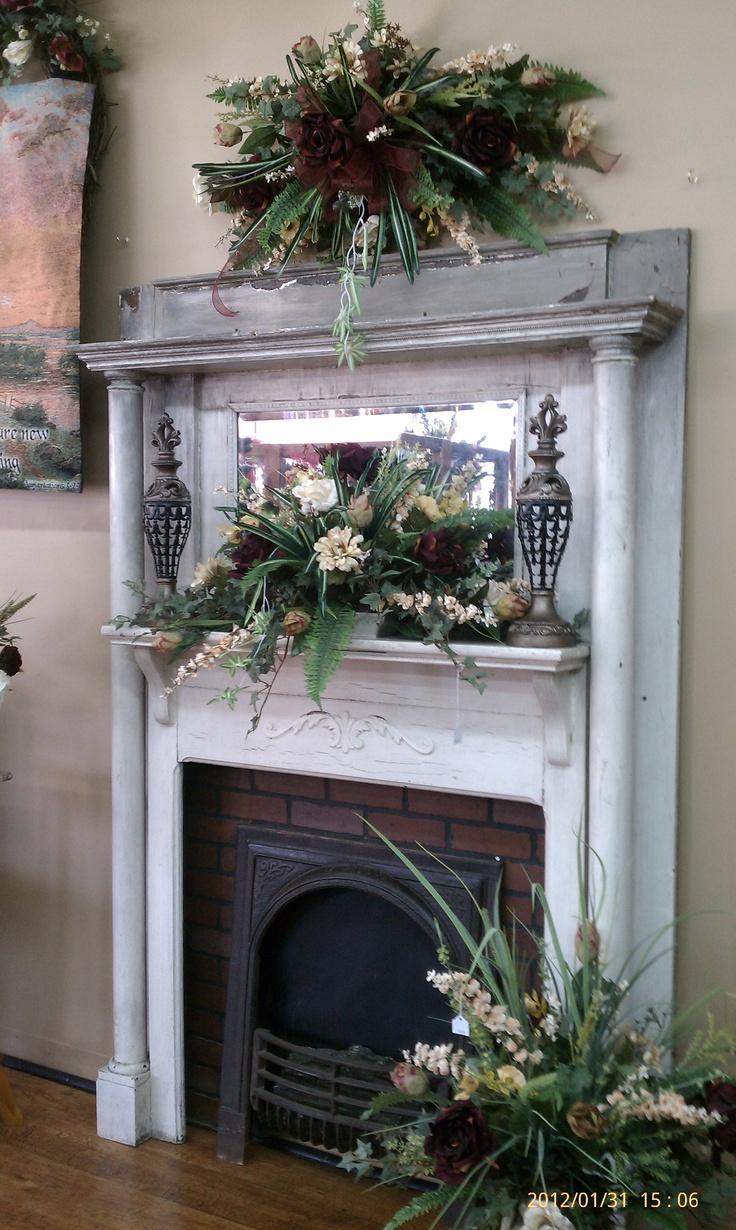 Antique Mantle Vintage Fireplace Faux Fireplace Mantels
