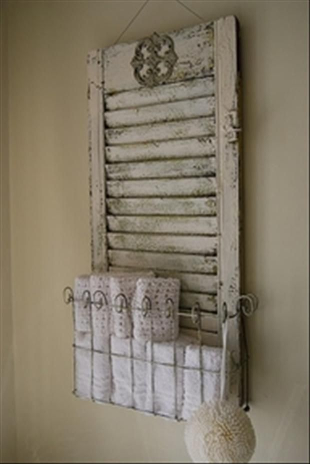 Creative Uses For Old Window Shutters. or maybe some old cabinet door would work. I know where I can get some of those