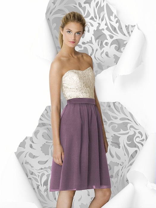 Like it: Rose Bridesmaid Dresses, Idea, Lace Bodice, Skirts, Colors, Rose Style, Bridesmaiddress, Lela Rose, Two Tones