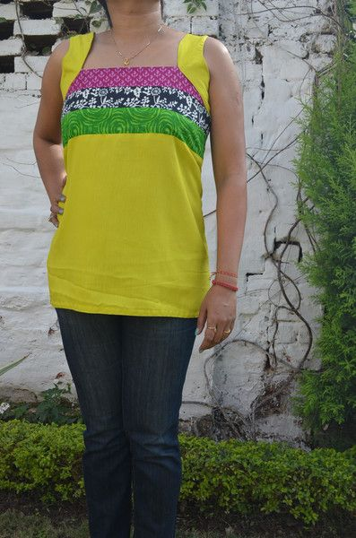 Lime Green Sleeveless Cotton #Top.  #WomenShoping #OnlineShoping #TheSaffronSaga  Price- 721.00 Shop Now- http://thesaffronsaga.com/products/lime-green-sleeveless-cotton-top