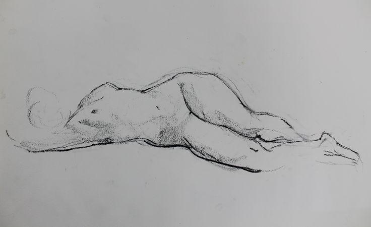 Титенков Владислав. Набросок обнаженной фигуры. А3. 2014 Titenkov Vladislav. Sketch of a nude figure. A3. 2014