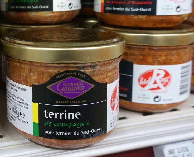 French terrine Monoprix Paris supermarket souvenir