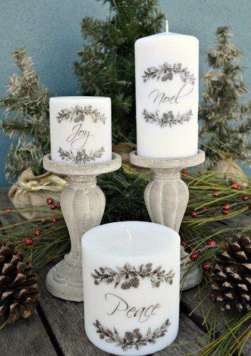 Декорируем свечи
