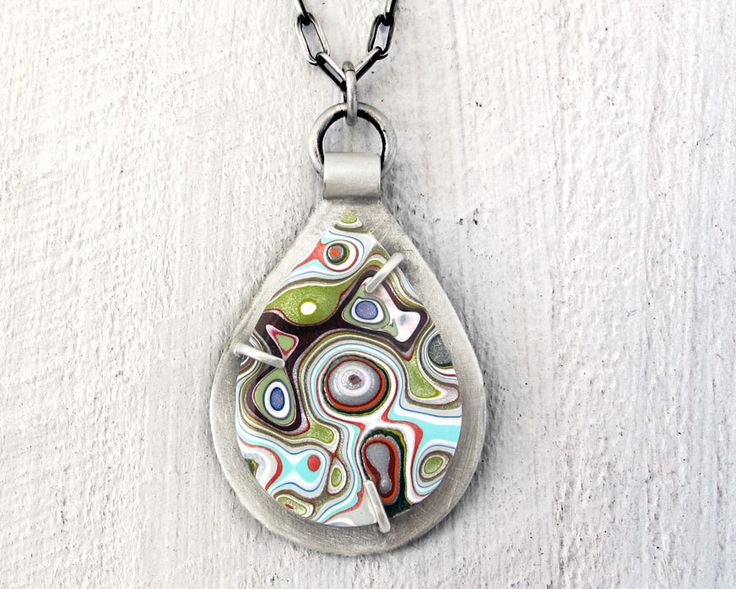 Fordite necklace, Detroit Agate necklace, fordite jewelry, girlfriend gift, wife gift, sterling silver statement necklace, gift for her by lulubugjewelry on Etsy https://www.etsy.com/listing/287287879/fordite-necklace-detroit-agate-necklace