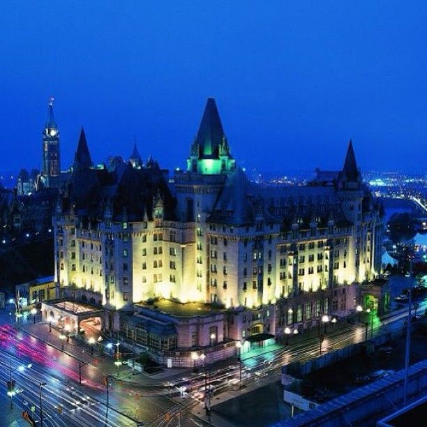 Fairmont Château Laurier in downtown Ottawa, Canada. For more information  on Ottawa visit www