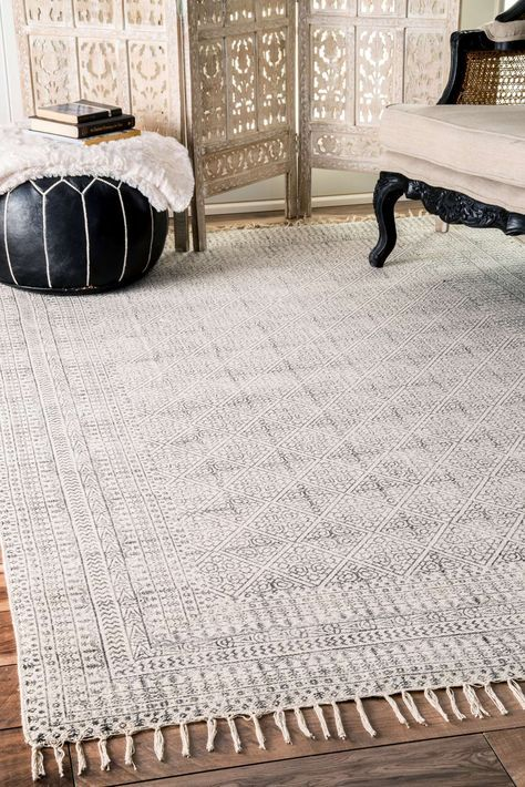chembrach14 flatweave cotton sparkling moroccan tribal trellis rug - Kitchen Rug Ideas