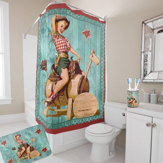 17 best ideas about western curtains on pinterest for Cowgirl bathroom ideas