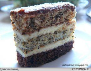 Zobacz zdjęcie Ciasto orzechowo- makowo- czekoladowe     Składniki na ciasto orzechowe:  1 szklanka mąki 1 szklanka cukru 1 jajko 200 g kwaśnej śmietany 2 garści posiekanych orzechów włoskich 1 garść rodzynek 1 łyżeczka sody 1 łyżka octu Składniki na ciasto makowe: 1 szklanka mąki 1 szklanka cukru 1 jajko 200 g kwaśnej śmietany 1 łyżeczka sody 1 łyżka octu 4 łyżki suchego maku Składniki na ciasto czekoladowe:  1 szklanka mąki 1 szklanka cukru 1 jajko 200 g kwaśnej śmietany 1 łyżeczka sody 1…