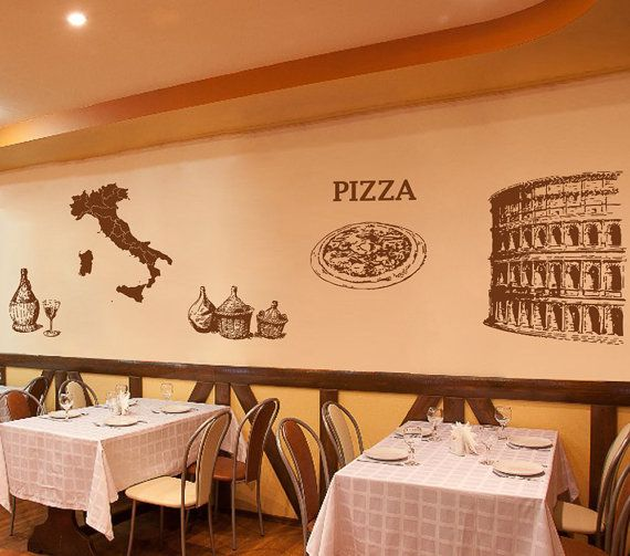 23 best Pizzeria Pizza Stickers Decals images on Pinterest ...