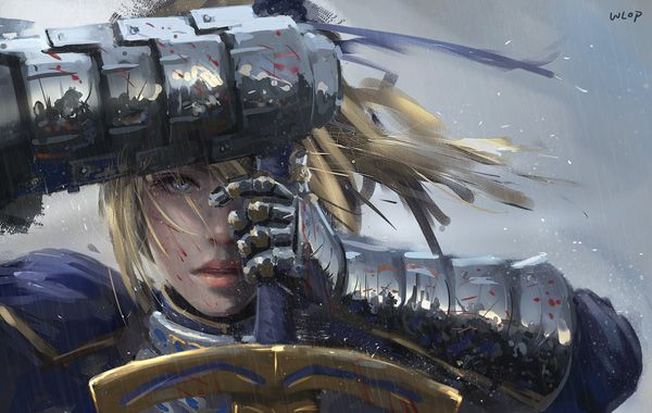 saber_by_wlop - Digital Paintings by Wang Ling   <3