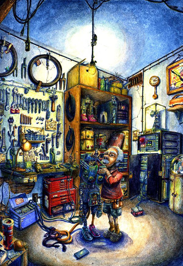 Roboxおじいさんのロボット修理(The robot repair of grandfather.)