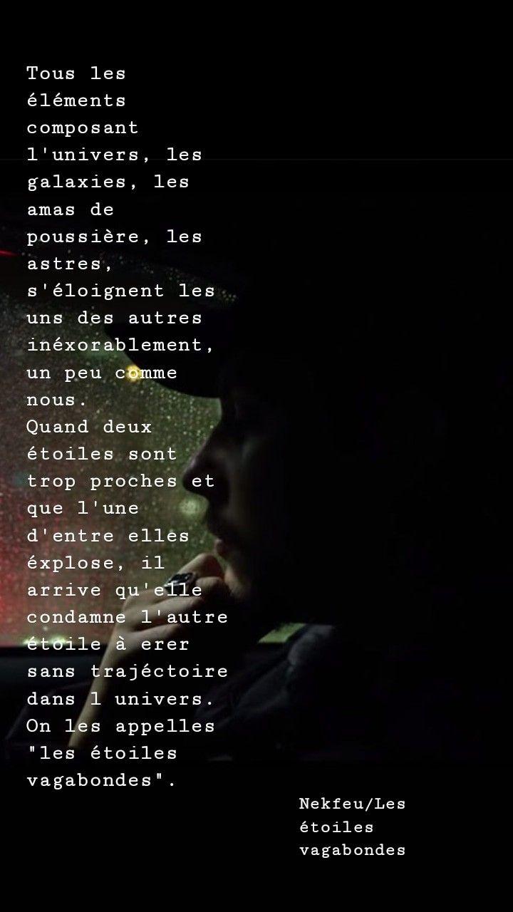 Les Etoiles Vagabondes Nekfeu Citation Nekfeu Texte Rap Citations De Rap