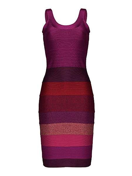 Dayangi panelled bodycon dress