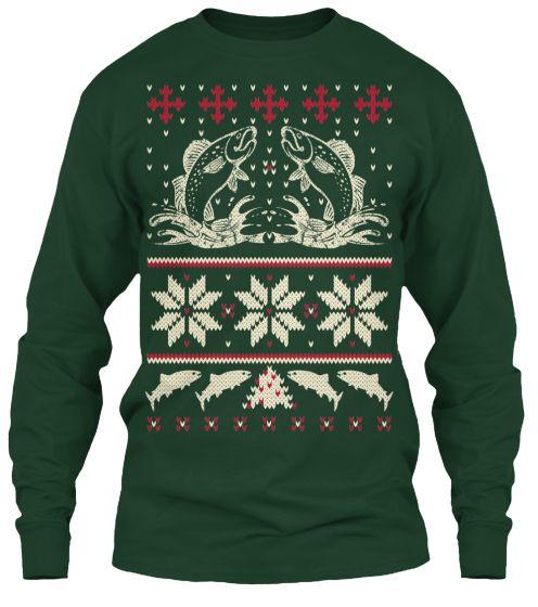 Ugly fishing sweater teespring fishing christmas gifts for Fishing christmas sweater