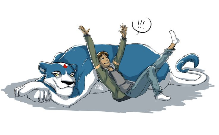 Lance and his realistic Blue Lion from Voltron Legendary Defender
