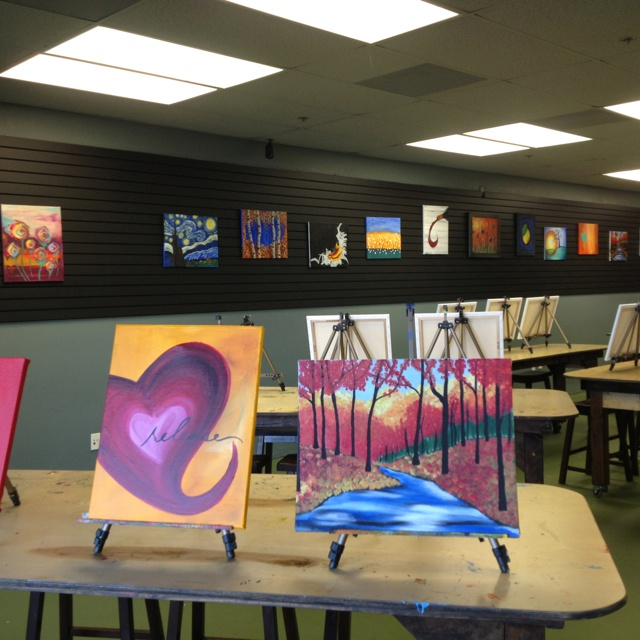 art studio class on pinterest wine and canvas kid painting and