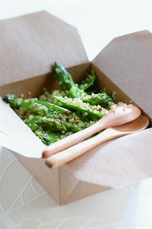 Pois gourmands, asperges et quinoa - Larousse Cuisine