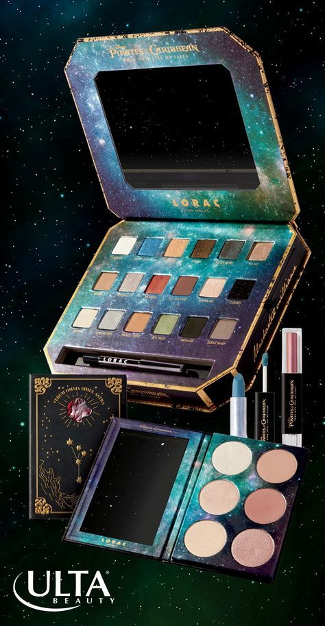 Set out on a beauty adventure. LORAC Pirates of the Caribbean palette with velvety smooth, pigmented shades for a sultry, smoky, Captain Jack-inspired eye. Tip: Apply shadows dry or wet to blend, shade and define like a pro.