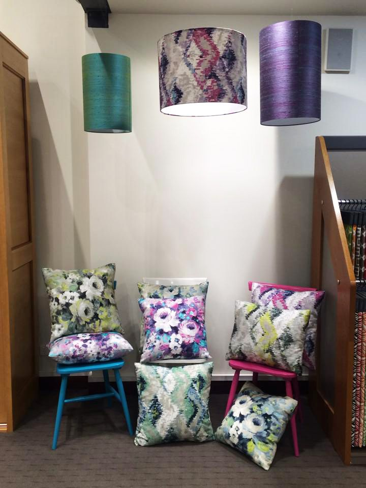 Warwick Fabrics, Adelaide showroom, September 2015. Featuring our Monique collection.