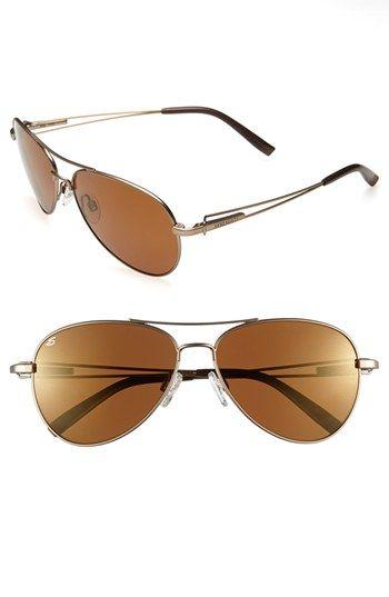 Serengeti Polarized 60mm Aviator Sunglasses available at #Nordstrom