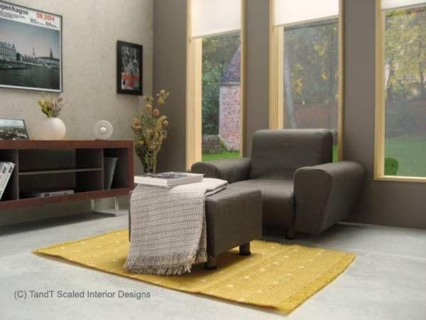 1 6 Miniature Furniture Set Sofa Tv Dresser For Living Room Playscale Pinterest
