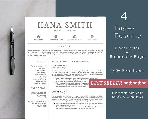 The design is customizable, so you can easily modify it, you can simply replace the filler text with your own information and add your own photo. Our professionally designed resume templates will not only save you time, it will make your resume look professional by helping you organize all the important information that recruiters are looking for.