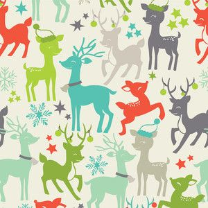Maude Asbury - Tinsel - Reindeer Games in White: Gifts Bags, Maud Asburi, Christmas Holidays, Tinsel Reindeer, Christmas Fabrics, Games Blue, Reindeer Games, Games Ivory, Blend Fabrics