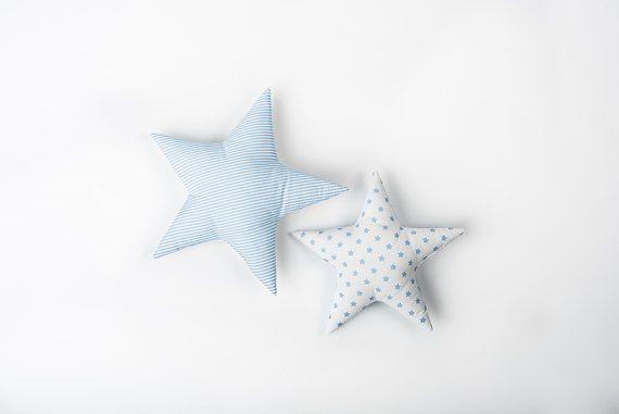 Kids Pillow set Cloud Star Moon shaped pillow Pastel by CotandCot