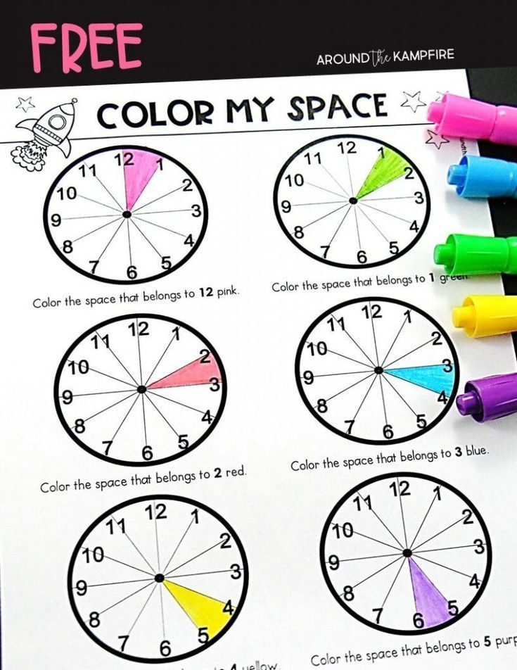 Teaching kids to tell time past the hour | Reading ...