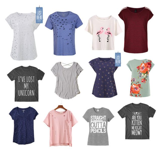 """""""Obsessed with ... Tees for travel"""" by beavercity on Polyvore featuring Hollister Co. and Gap"""