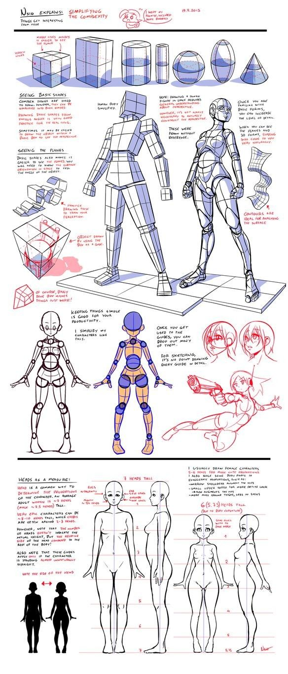 Tips to draw body's
