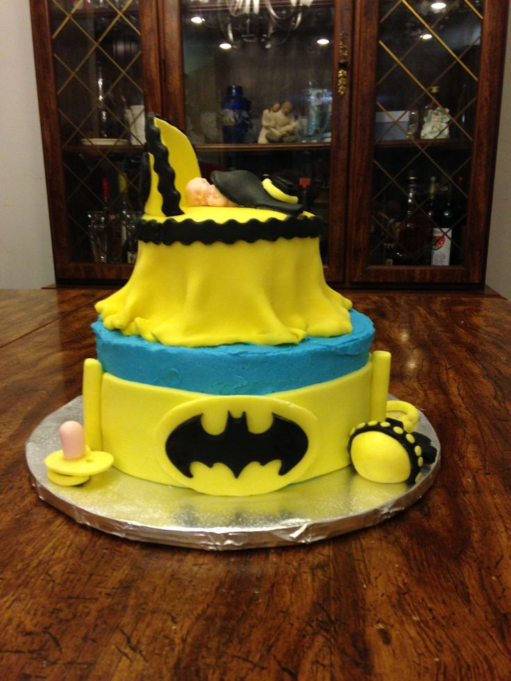Batman Baby Shower Cake