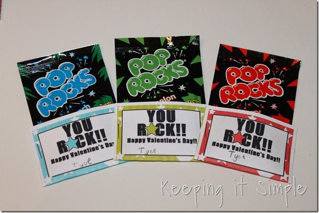 """Pop Rocks I want it to say """"My class ROCKS because you're in it"""" Valentine's for my class this year! :D"""