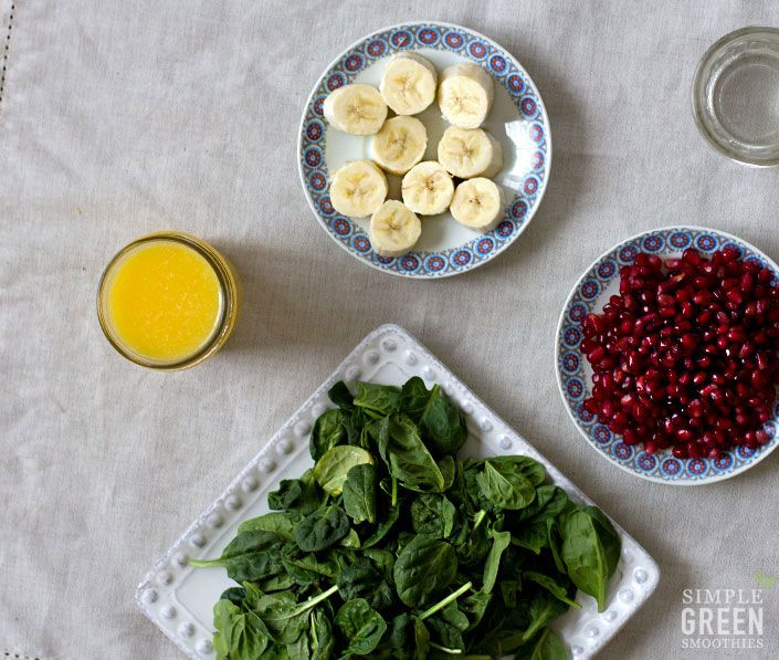 Use up those pomegranates with this delish green smoothie via Simple Green Smoothies
