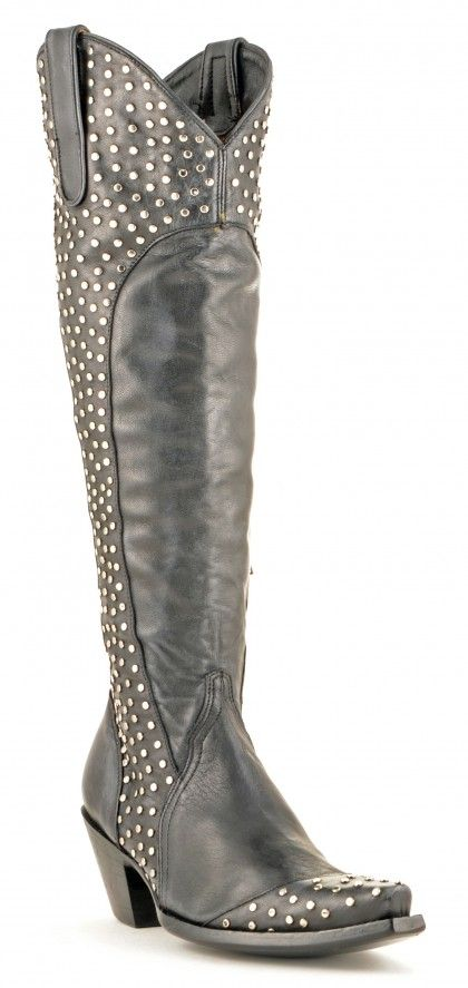 Women's Old Gringo Fatale Boots Black and Silver  L12183