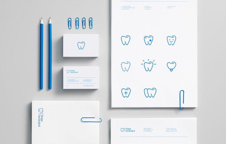 A blue and white brand identity for dental clinic — En blå och vit grafisk profil för tandläkarklinken Telge Tandvård