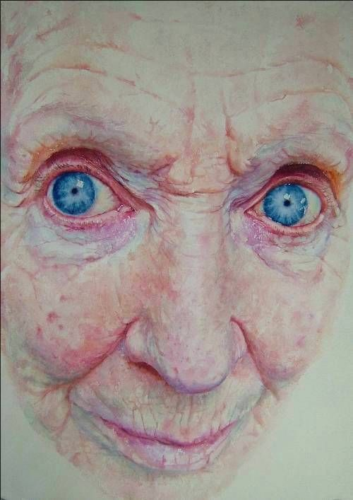 Sue Rubira - Portraits and Illustration  Unusual portrayal of age.