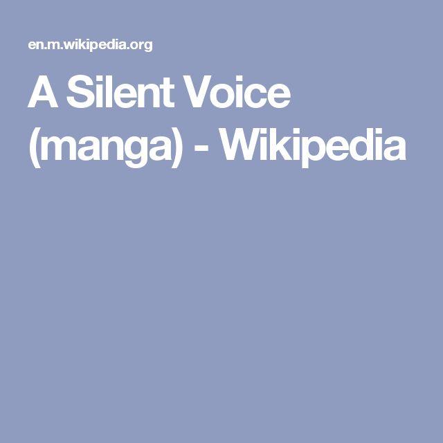 A Silent Voice (manga) - Wikipedia