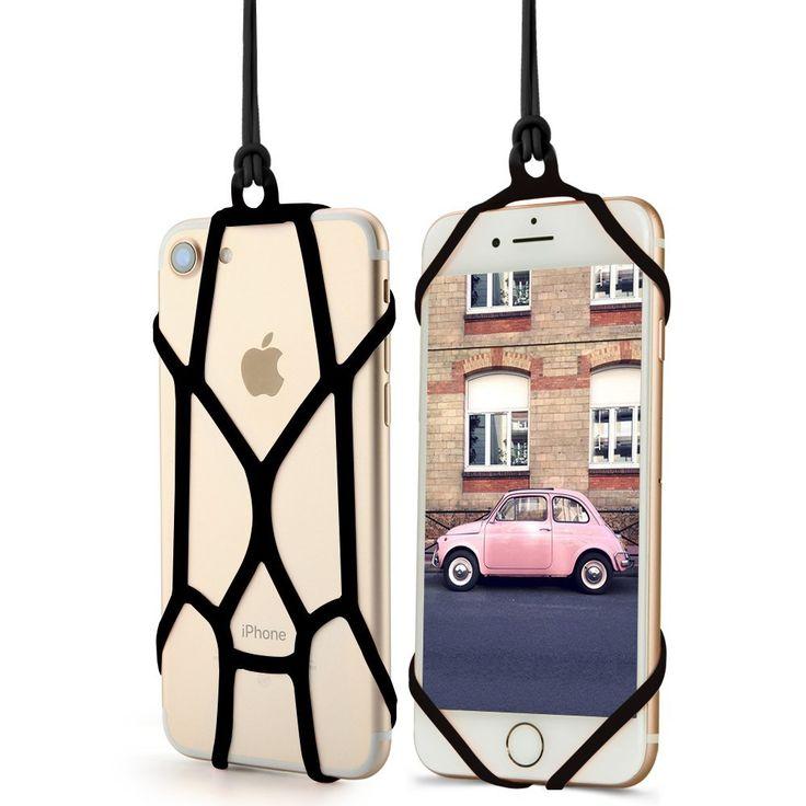 Rope material: Silicone Detachable Lanyard - A hip way to carry your phone by a lanyard made from durable/flexible Silicone which can be attached or detached  Universal Fit - Compatible with Apple iPhone 6, 6S, 6S Plus, 6Plus, 5, 5S, 5C, 4, 4S, Samsung Galaxy S Series, Note Series, Edge Series, LG Phones, Motorolla Phones, Nokia Phones, HTC Phones, Asus Phones, Huawei Phones that are from 3.5 inches to 6.5 inches